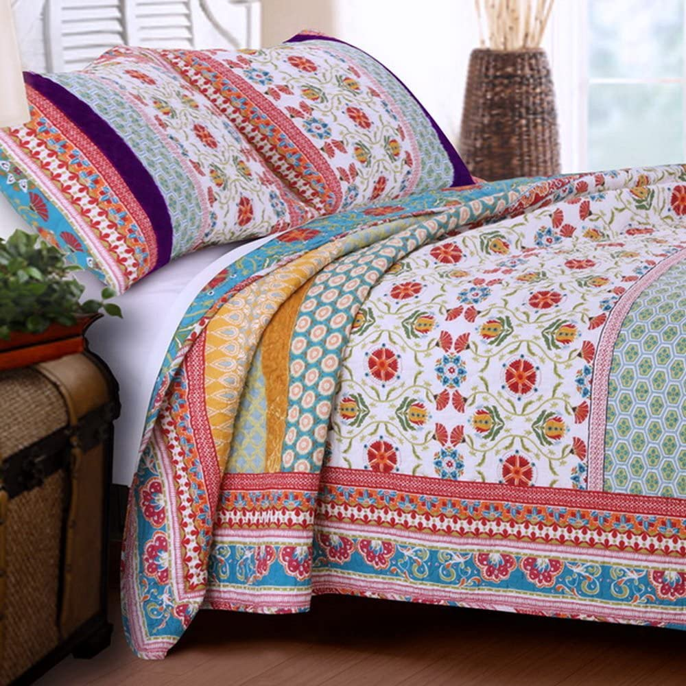 Quilt Set 100 Cotton 3 Piece free Reversible with Ret King Shams We OFFer at cheap prices Size