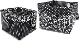 Corbeilles de rangement en tissu cubes réversibles en coton pour étagères et bureaux, panier / boîte / panier multi-usages...