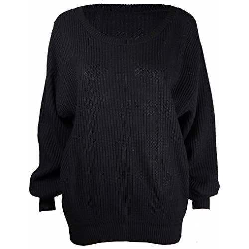 9a0337fbc Made By PURL® Ladies New Plain Chunky Knit Loose Baggy Oversized Jumper  Tops Womens Long