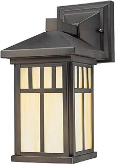 Westinghouse Lighting 6732800 Burnham One-Light Exterior Wall Lantern on Steel with Honey..