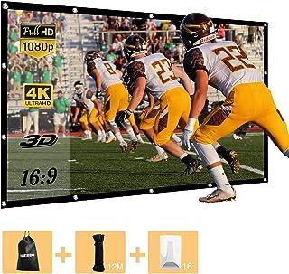 プロジェクタースクリーン 持ち運び 折り畳み式 120インチ 16:9 シワなし 投影用 ホームシアター 会議 映画 スクリーン(34%の光透過率) プロジェクター-スクリーン-120インチ-モバイル-すくりーん