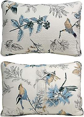 Brandream Bird Bedding King American Country Style Comforter Set King Size 100% Cotton Quilt Set Reversible