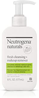 Neutrogena Naturals Fresh Cleansing Daily Face Wash + Makeup Remover with Naturally-Derived Peruvian Tara Seed, Hypoallergenic, Non-Comedogenic & Sulfate-, Paraben- & Phthalate-Free, 6 fl. Oz (2 Pack)