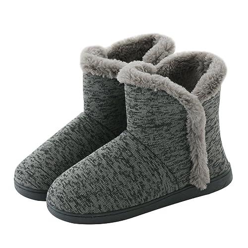 1324953ddd0 Neeseelily Women Cozy Plush Fleece Bootie Slippers Winter Indoor Outdoor House  Shoes