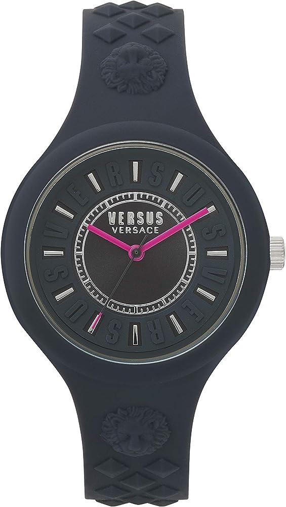 Versus versace orologio analogico da donna in policarbonato VSPOQ2218