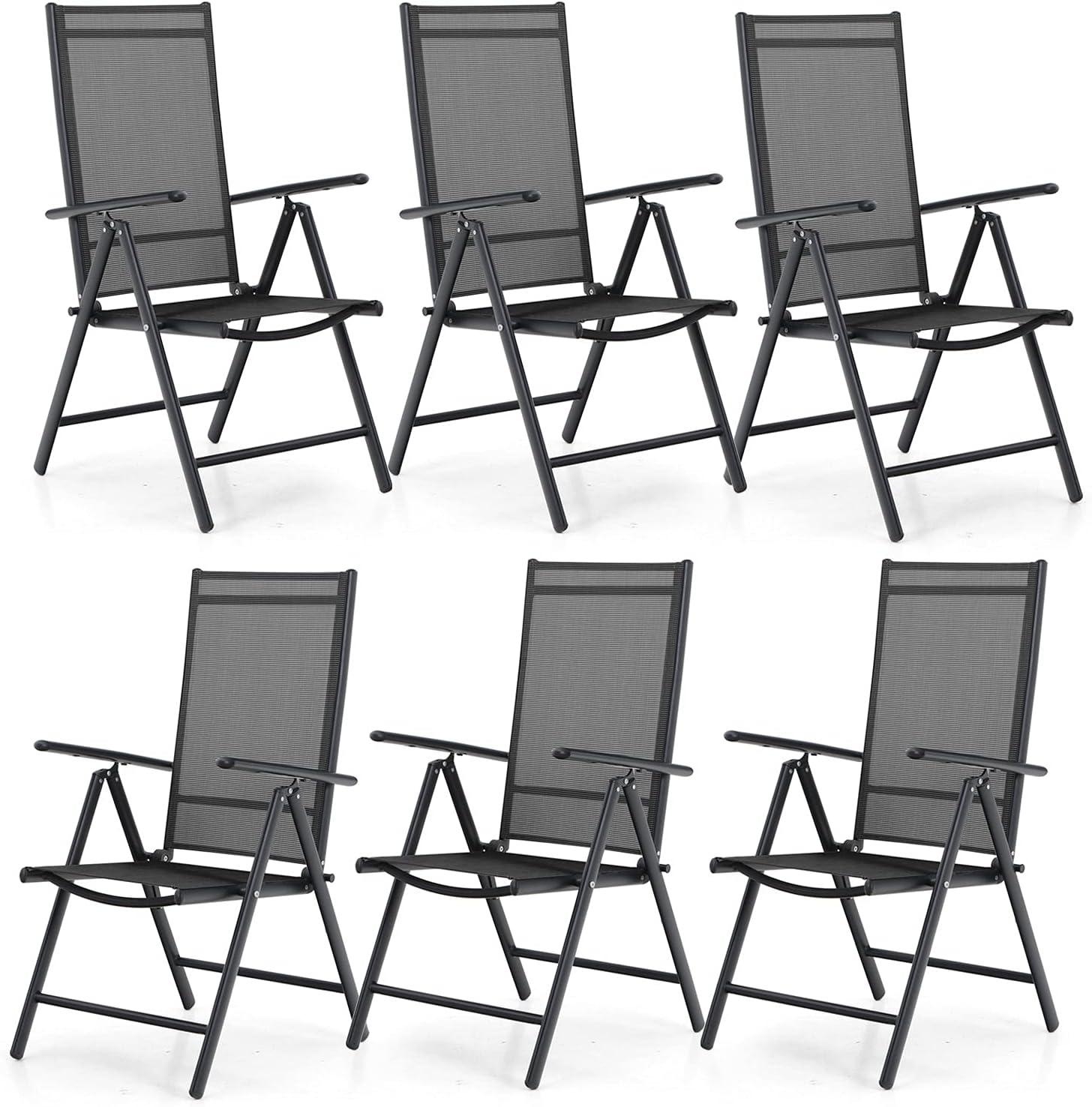 PHI VILLA Patio Import Folding Chairs Set Rec Bombing free shipping Adjustable Portable 6 of