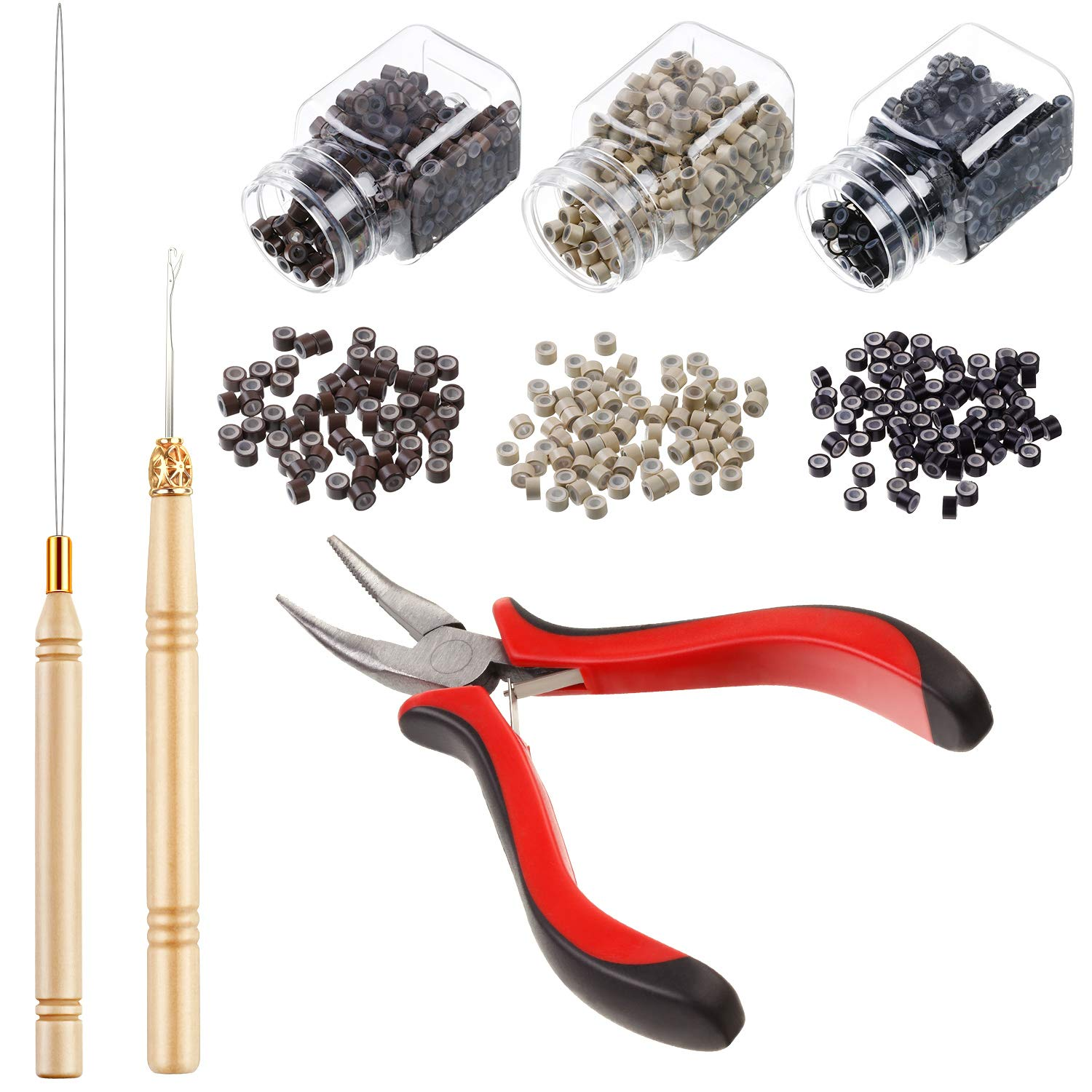Hair Extension Kit Pliers Pulling Hook Bead Device High quality and El Paso Mall Tool Kits