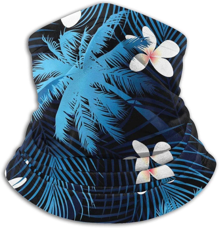 White Flowers Unisex Microfiber Neck Warmer Headwear Face Scarf Mask Reusable Balaclava For Cold Weather Dust Sun Windproof Ski Tube Face Cover Magic Bandana