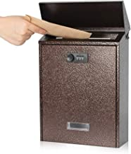 Kyodoled Mail Boxes with Combination Locking Wall Mount Mailbox Steel Cover Rust-Proof Metal Post Box WaterProof 12.79