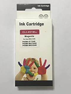 ink 451 m comptable with printer canon ip7240-ix6840-mg5640
