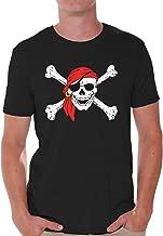 Awkward Styles Men's Jolly Roger Skull & Crossbones T Shirts Tops Pirate Flag T Shirts Tops