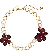 Kate Spade New York - Blooming Bling Leather Necklace