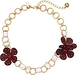 Blooming Bling Leather Necklace