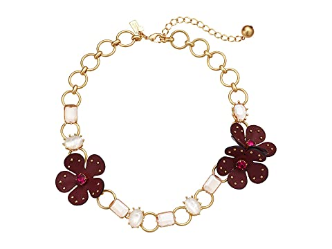 Kate Spade New York Blooming Bling Leather Necklace