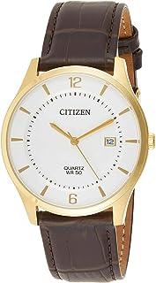 ساعة يد انالوج بحركة كوارتز بسوار جلد للرجال من سيتيزن طراز BD0043-08B