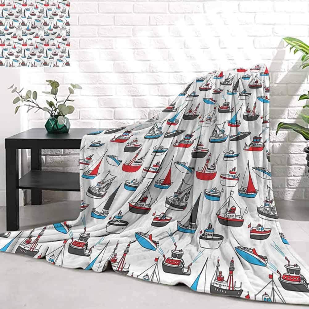 WilliamsDecor Cozy Albuquerque Mall Blankets for Kids Vessel BoatNautical De Sail discount