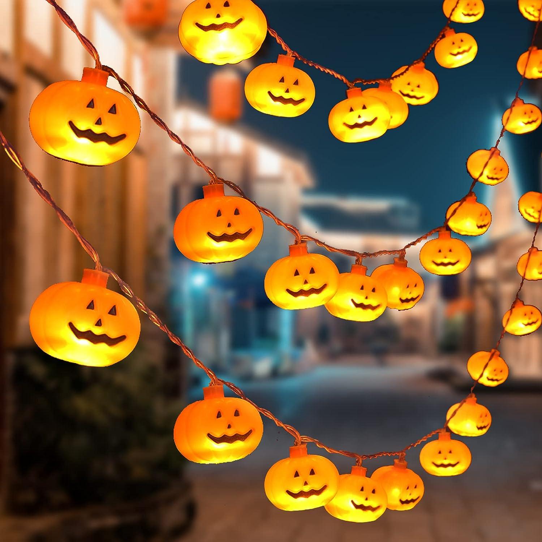 Halloween Max 51% OFF String Lights 30 Special sale item LED 15FT Pumpkin Holiday Lig
