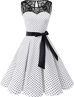 Bbonlinedress Donna 1950 Vintage Senza Maniche Rockabilly Cocktail Swing Dress