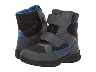 Geox Kids Jr Kuray Babx 1 (Little Kid/Big Kid) (Black/Blue) Boys Shoes