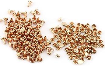 Akozon dubbelhätta nitar dubbla mössor nitar metall läderhantverk reparationer nitar spike dekoration för gör-det-själv lä...