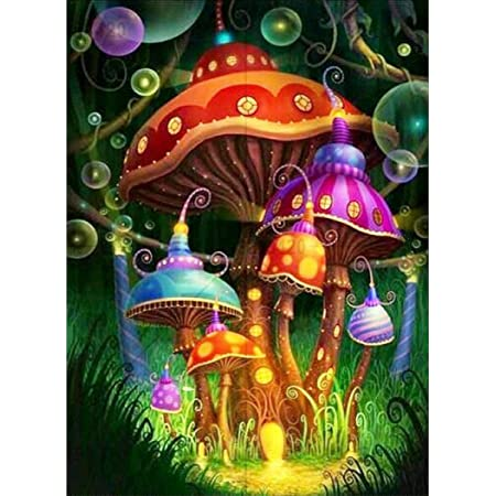 5D Diamond Painting Full Drill DIY Mushroom Embroidery Kit Home Wall Decoration