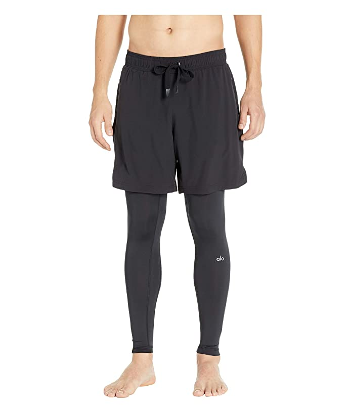 ALO Stability 2-in-1 Tights (Black/Black) Men's Casual Pants