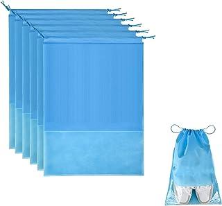 15Pcs Travel Shoe Bag, Large Non-Woven Drawstring Shoes Storage Bag, with Transparent Slot Clear Window, for Men's Shoes W...