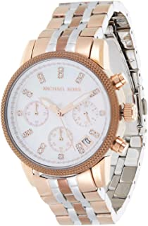 Michael Kors Women's White Dial Stainless Steel Band Watch - MK5642