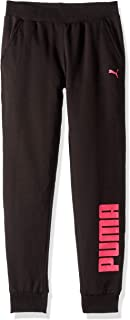 Girls' Big Fleece Joggers, Black, M