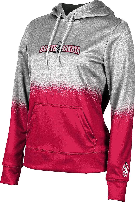 University of South Dakota Girls' Pullover Hoodie, School Spirit Sweatshirt (Spray Over)