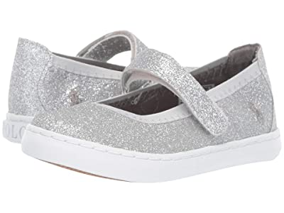 Polo Ralph Lauren Kids Leyah (Toddler/Littler Kid) (Silver Glitter/Silver Pony) Girl