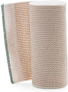 "Medline DYNJ05157LFH Sterile Matrix Elastic Bandages, 6""x10YD, White/beige"
