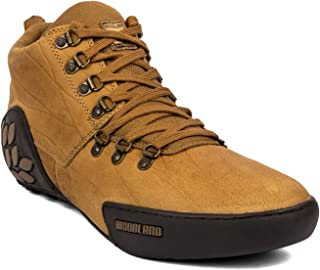 Woodland Men's Leather Casual Shoes - Camel