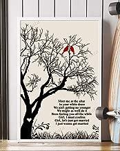 Let's Get Married Song Lyrics Mattata Decor Gift Portrait Poster Print (24