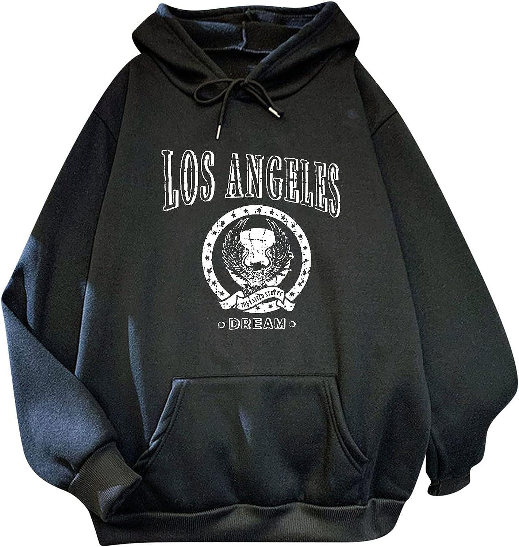 iCJJL Long-Sleeve Sweatshirt for Women Casual Blouse Print Hoodie Sweatshirt Pullover Fashion Printed Loose Sweatshirt