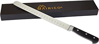 MAIRICO Ultra Sharp Premium 11-inch Stainless Steel Carving Knife - Ergonomic Design - Best for Slicing Roasts, Meats, Fru...