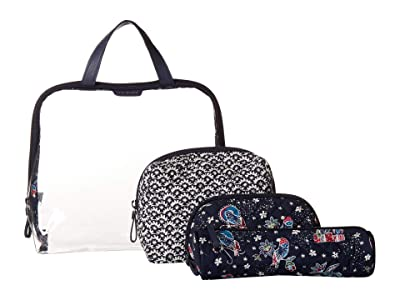 Vera Bradley Iconic Four-Piece Cosmetic Set (Holiday Owls) Cosmetic Case