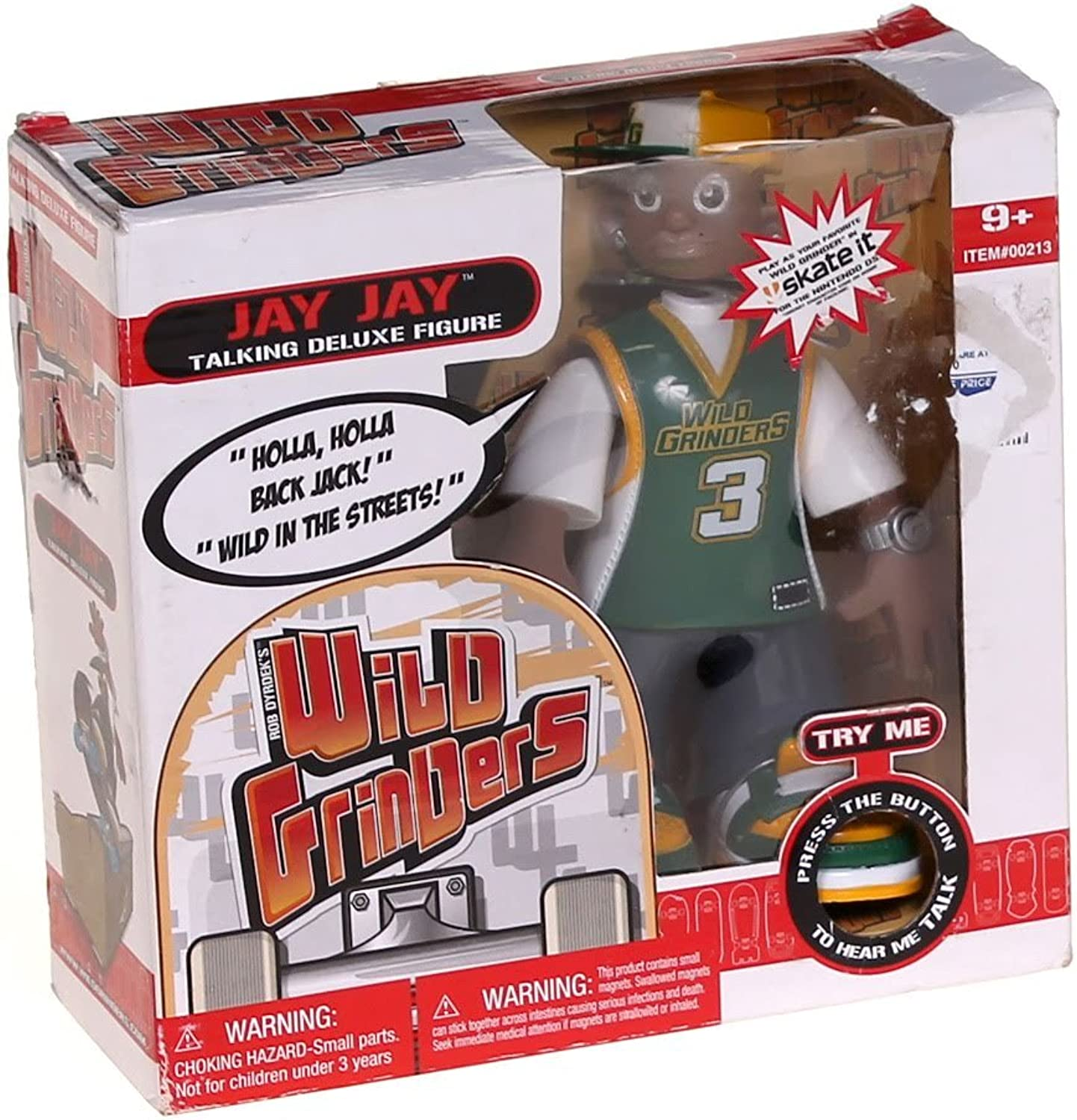 Wild Grinders Jay Jay Talking Deluxe Action Figure