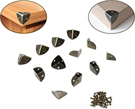 Anmeilexst Box, Wooden Box, Photo Frame, Table and Chair, Cabinet, Metal Corner Furniture Safety Protector, Vintage Bronze, Set of 12(Contains Screws)