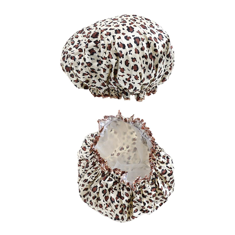大事にするシネウィ約設定chiwanji シャワーキャップ ヘアキャップ ヘアーターバン 入浴キャップ 帽子 お風呂 シャワー用に 2個 7色 - A