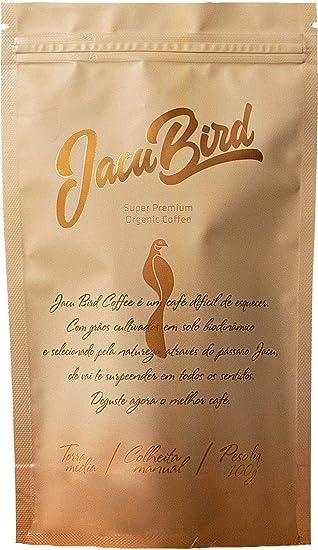 Jacu Coffee em grãos 100 g. Direto da fazenda Camocim com torra média, fresco para sua xícara. Selo de qualidade orgânico demeter.