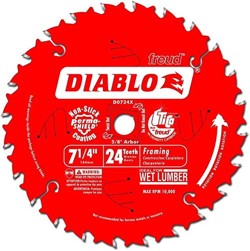 "lowest Diablo outlet sale D0724X 7-1/4"" Saw Blade outlet sale With 24 Teeth sale"