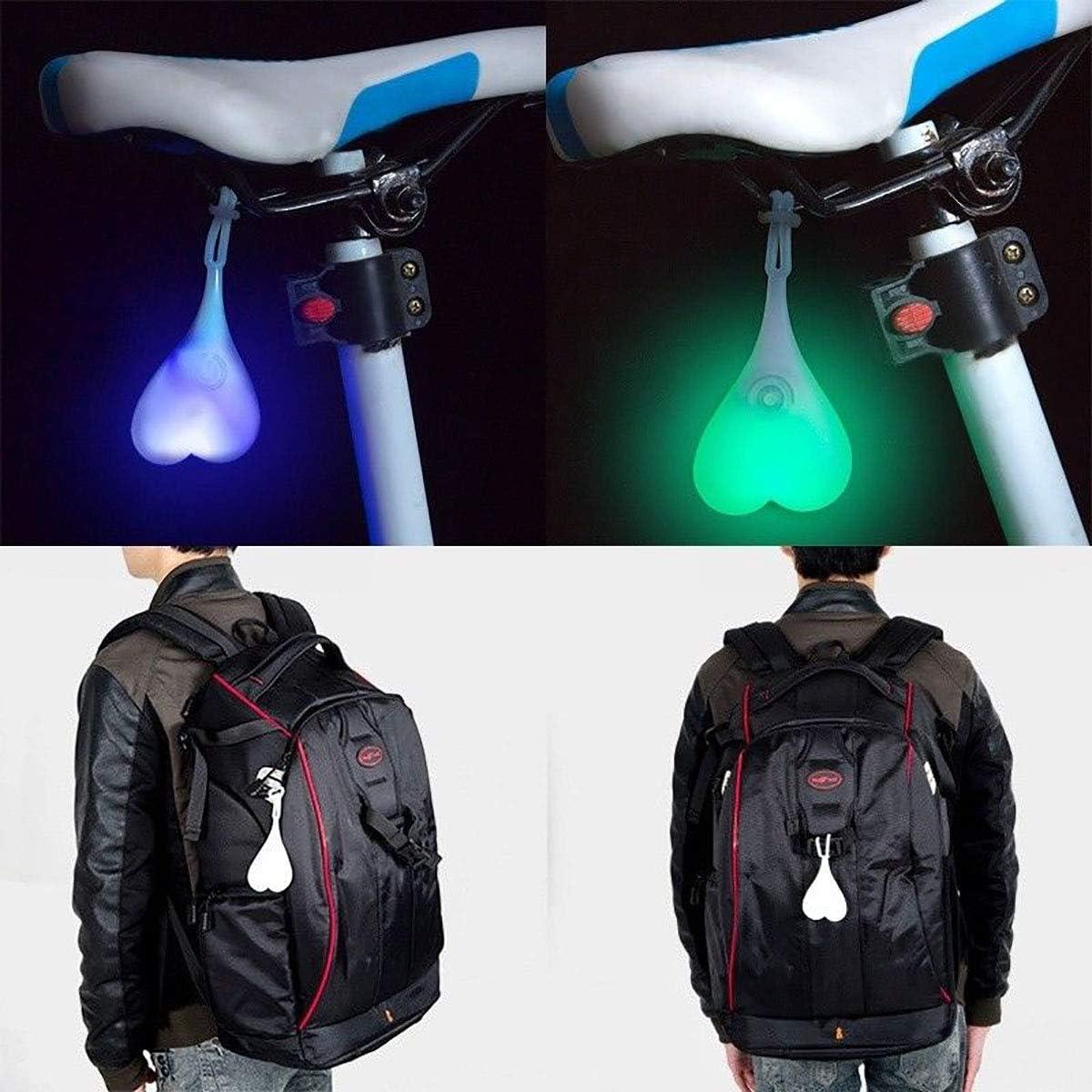 Gazelle Trading Bike Ball Lights Bicycle Cycling LED Flash Night Safety Rear Tail Light Waterproof Warning Night Silicone Bike Back Light Heart-Shaped Egg Warning Signal Lamp