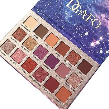 DGAFO paleta de sombras de ojos Matte Glitter 18 colores de sombras de ojos en polvo paleta de sombras de ojos a prueba de agua estrellada paleta: Amazon.es: Belleza