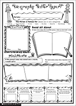 Instant Personal Poster Sets: Biography Report: Big Write-and-Read Learning Posters Ready for Kids to Personalize and Display With Pride!