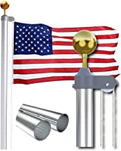 Sponsored Ad - Sectional Flag Pole for House 25 Ft - Fly 2 Flags, Free 3x5 US Flag and Ball, Flag Pole Kit for Yard, Flagp...
