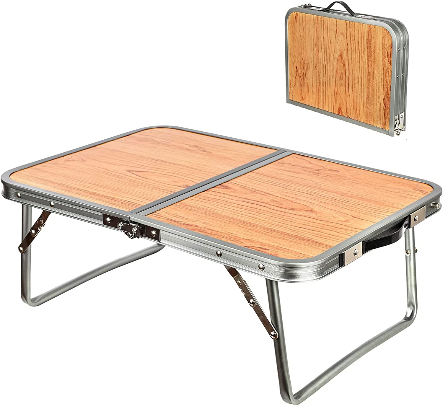 ICECO Folding Camping Table Portable, Lightweight Aluminum Small Picnic Table Laptop Table for Indoor Outdoor Camp Beach