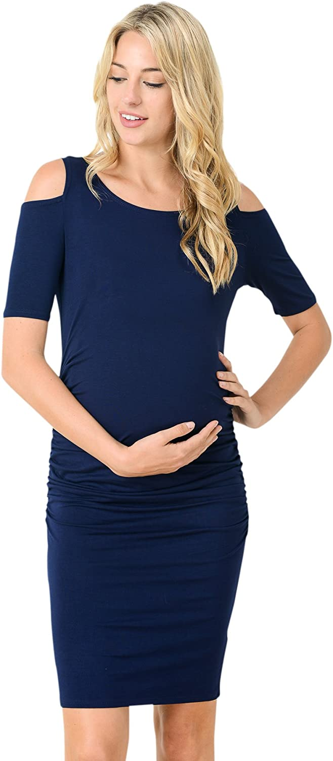 HELLO MIZ Women's Long Sleeve Shoulder Maternity 5 popular Dre Cold Choice Fitted