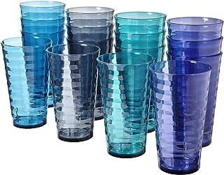 Splash 18-ounce Plastic Tumblers | Value set of 16 in 4 Coastal Colors