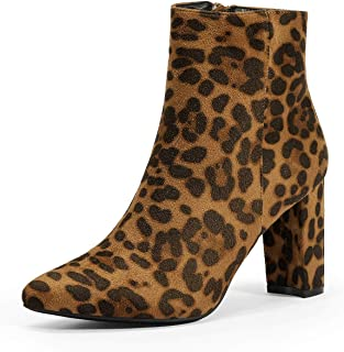 DREAM PAIRS Women's Chunky High Heel Ankle Booties